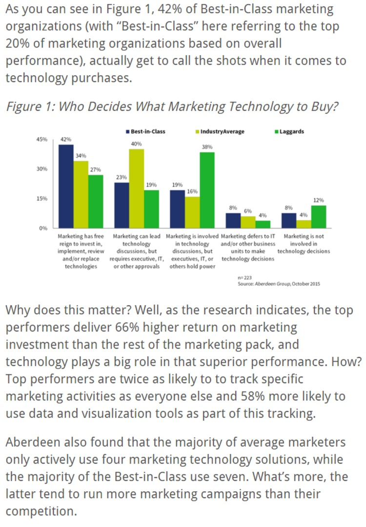Have You Achieved MarTech Independence? - CMO Essentials | The Marketing Technology Alert | Scoop.it