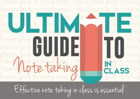 The Ultimate Guide to Note Taking in Class Infographic - e-Learning Infographics | Anglo European Learning English | Scoop.it