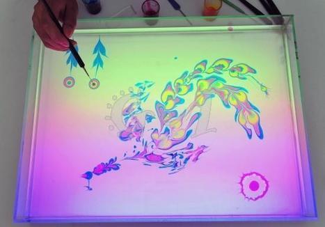 Chinese Artist Paints on Water #art #water #ink #marbling #painting   Art   Scoop.it