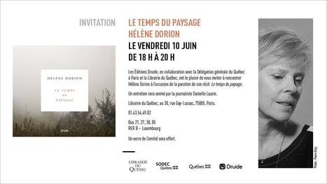 Vendredi 10 juin 2016 :: lecture-rencontre avec Hélène Dorion (Paris) | TdF  |   Poésie contemporaine | Scoop.it