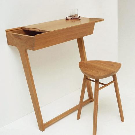 10 piccole scrivanie per spazi angusti fai da for Piccole scrivanie