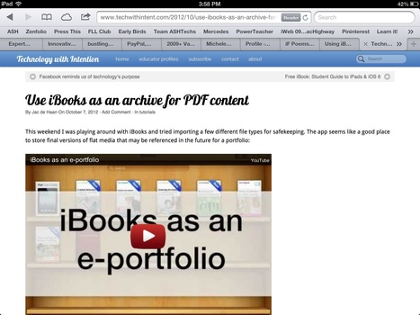 Technology with Intention | Use iBooks as an archive for PDF content | iPad Apps for Middle School | Sco