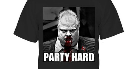 Andrew WK's 'Rob Ford Party Hard' T-Shirt For Sale In Time For The Holidays - Huffington Post Canada | Sports Clothing | Scoop.it