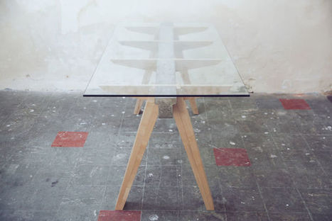 Beam Desk 2.0 le bureau bois béton verre Studio Temper | Le béton créatif et poétique | Scoop.it
