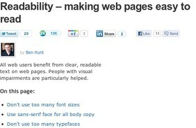 Readabilty - making pages easy to read by design | CoAprendizagens 21 | Scoop.it
