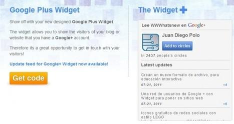widgetsplus – Nueva forma de añadir un Widget de Google Plus en un sitio web   Google+, Pinterest, Facebook, Twitter y mas ;)   Scoop.it
