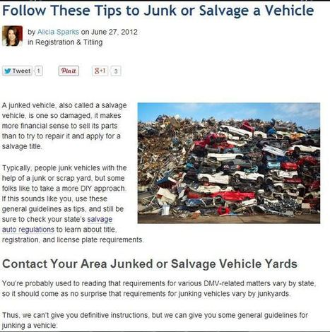 """To-Dos before Considering that """"We Buy Junk Cars in Indianapolis"""" Sign 