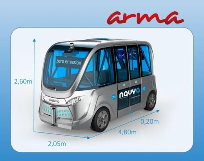 J'ai essayé à Lyon le véhicule électrique autonome Navya Arma | Internet du Futur | Scoop.it