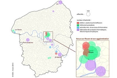 Insee - Conditions de vie-Société - TIC : des emplois qualifiés, urbains assez peu présents en Haute-Normandie | Web : Etudes et Chiffres Clefs | Scoop.it