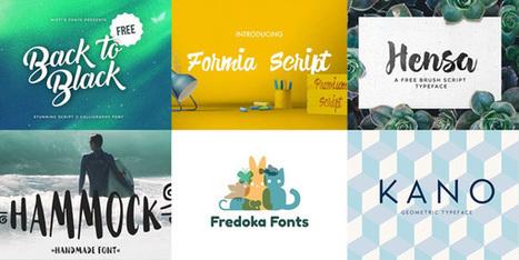 25 typographies gratuites proposées en juillet 2016 | Graphic design | Scoop.it