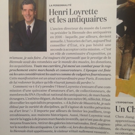 Henri Loyrette et les antiquaires | La Biennale - Paris | Scoop.it