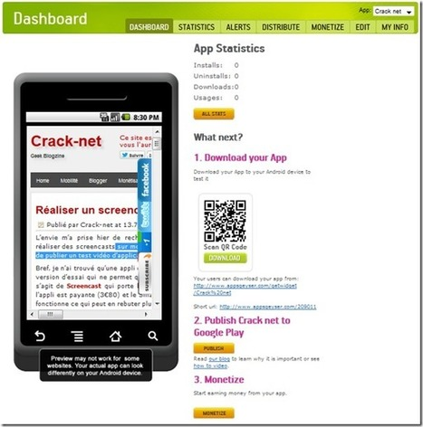 Créer gratuitement une application Android pour votre blog | DigitalBreak | Scoop.it