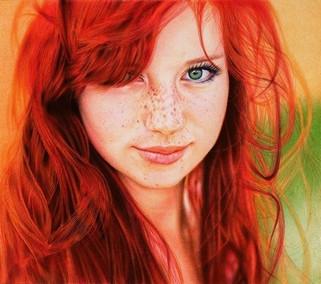 Extraordinary Hyperrealistic Ballpoint Pen Portrait | Arts graphiques | Scoop.it