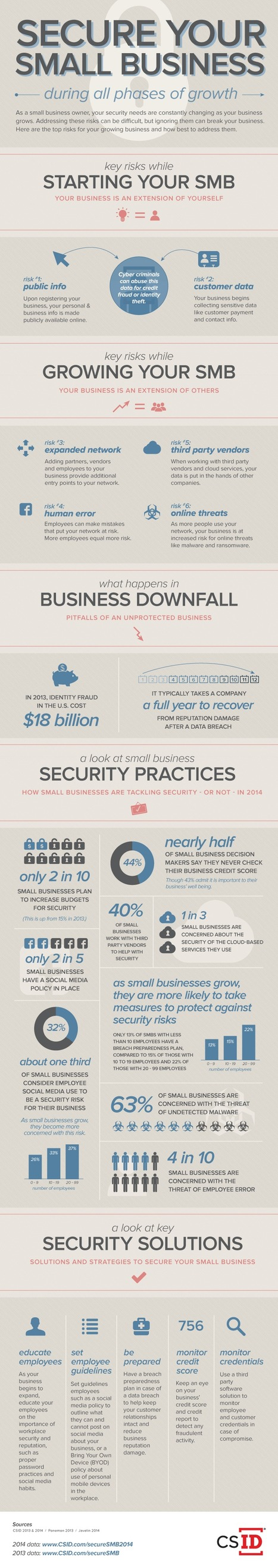 cyberSAFE Webinar Series: SMB Security for Every Phase of Growth | Infographic | FootprintDigital | Scoop.it