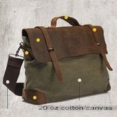 vintage leather and canvas cross body bag | personalized canvas messenger bags and backpack | Scoop.it