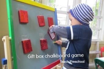 Gift box chalkboard writing game | Teach Preschool | Scoop.it