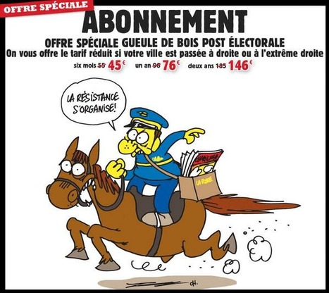 «Charlie Hebdo» fait une «offre spéciale gueule de bois électorale»   DocPresseESJ   Scoop.it