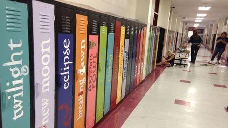 Un lycée américain peint ses casiers pour en faire une avenue littéraire | LibraryLinks LiensBiblio | Scoop.it