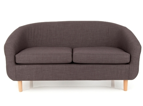 Cotham Linen Effect Charcole Two Seater Tub Upholstered Chair | FurnitureInFashion | Scoop.it