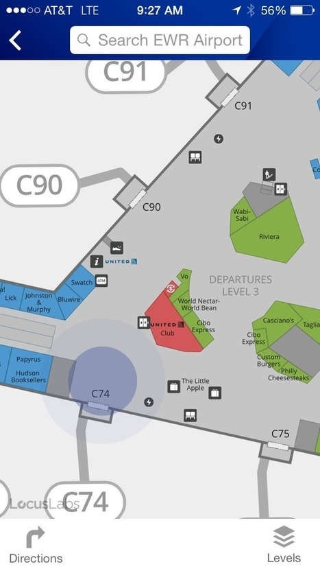 United Airlines Brings Highly Detailed In-Airport Maps To Its iOS App - TechCrunch | Location Is Everywhere | Scoop.it