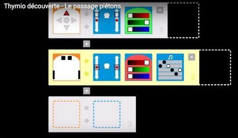 Programmer à l'école primaire. Découverte de Thymio | Programmation à l'Ecole - Mondes virtuels - Jeux sérieux | Scoop.it