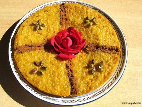 Torta di riso ispirata alla Persia: con zafferano, acqua di rose e ... - greenMe.it   Ricette dal #mondoarabo   Scoop.it