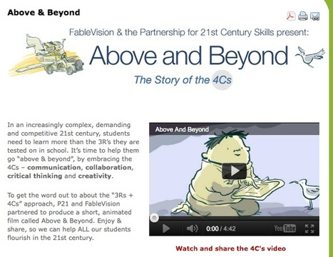 Above & Beyond - The Partnership for 21st Century Skills | Website analysis | Scoop.it