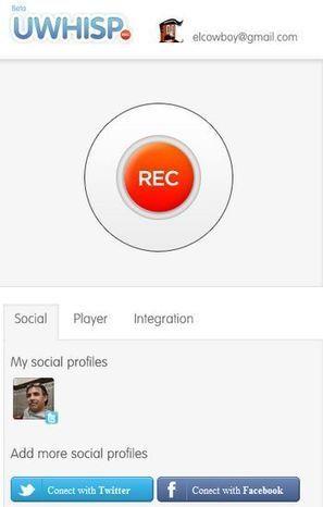 uWhisp, simple y fácil forma de dejar un mensaje de voz en Twitter y Facebook | GeeksRoom | Cajón de sastre Web 2.0 | Scoop.it