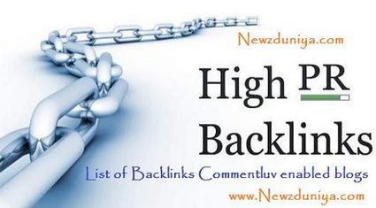 List of Backlinks Commentluv enabled blogs - Newz Duniya | Newz Duniya | 24*7 online news | Scoop.it