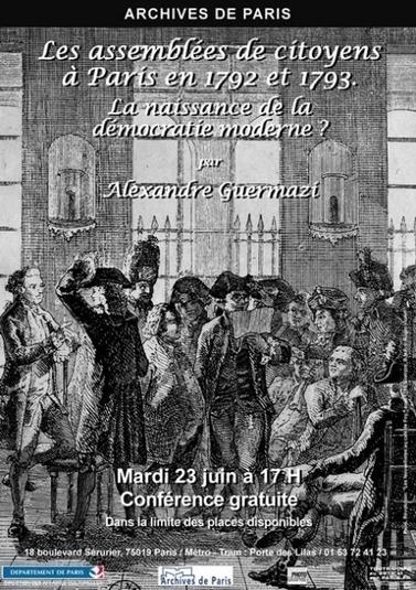 Les assemblées de citoyens à Paris en 1792 et 1793 | Rhit Genealogie | Scoop.it
