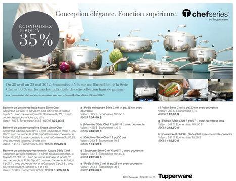 Jusqu'à 35% de rabais | Série Chef Tupperware | Tupperware, pourquoi pas ? | Scoop.it