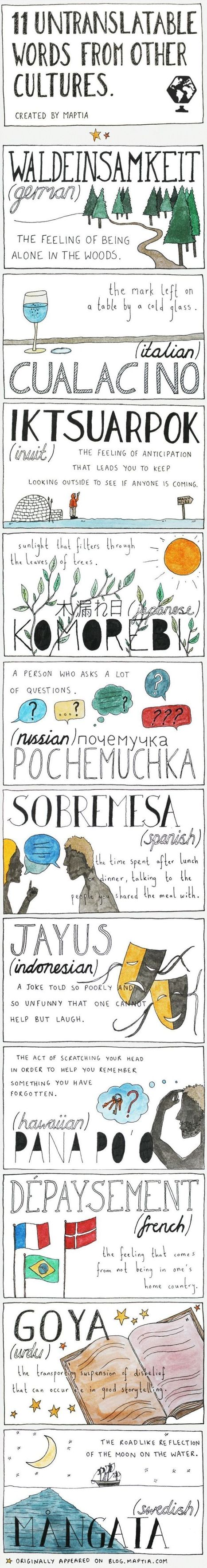 11 palabras sin traducción a otros idiomas #infografia #infographic   Did you know?   Scoop.it