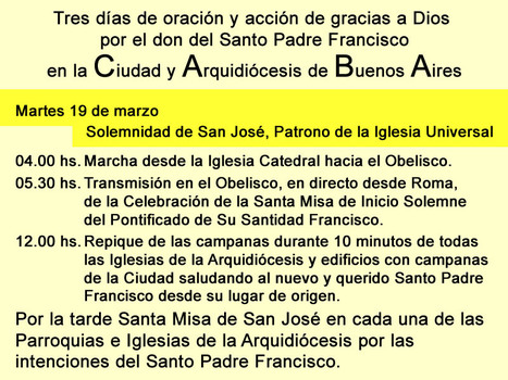 Celebraciones en Buenos Aires por el don del Santo Padre Francisco 2 | Educación 2012 (2.0 y 3.0) | Scoop.it