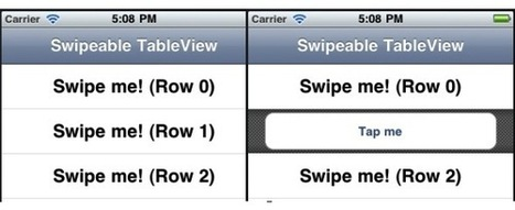 iOS Open Source : Swipe Table Cell to Reveal Additional Content   iOS dev   Scoop.it