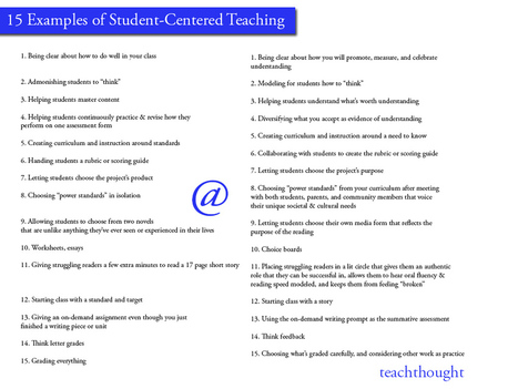15 Examples of Student-Centered Teaching | Creative Thoughts | Scoop.it