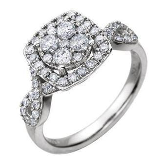 Halo Diamond Engagement Ring in 14k White Gold | Diamond Engagement Ring | Scoop.it
