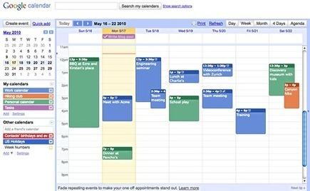 Educational Technology Guy: Google Calendar for Educators | Into the Driver's Seat | Scoop.it