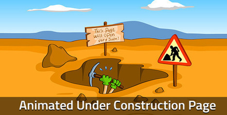 Worker Animated Under Construction Page - HTML CSS | Themes4Free | Scoop.it