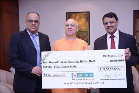 IDBI Bank Contributes Rs.5 crore to Ramakrishna Mission as part of CSR Initiative | IDBI Bank | Scoop.it
