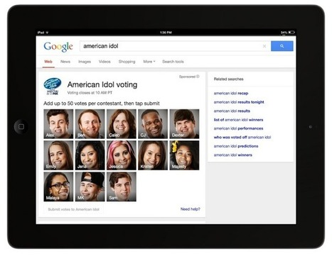 """Google Becomes A """"Second Screen,"""" Teams Up With FOX To Offer Online Voting Tools For """"American Idol""""   TechCrunch   screen seriality   Scoop.it"""