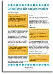 Checklista för sociala medier | Kirjastoista, oppimisesta ja oppimisen ympäristöistä | Scoop.it