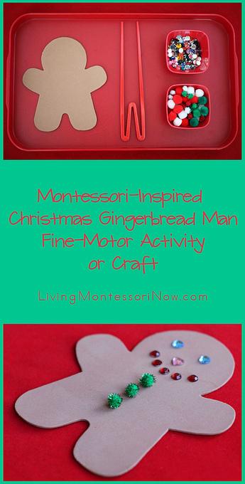Montessori Monday – Christmas Gingerbread Man Fine-Motor Activity or Craft | Montessori Inspired | Scoop.it