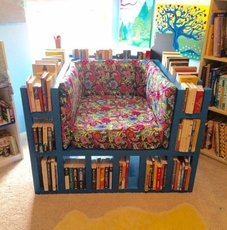 Make a Chair that's Also a Bookshelf — Furniture | Make: | K-12 School Libraries | Scoop.it