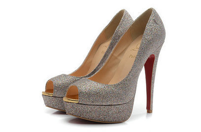Glitter Louboutins Pump 140 Red Sole Colorfull Sequin Sandals | Chaussures tendances ! | Scoop.it