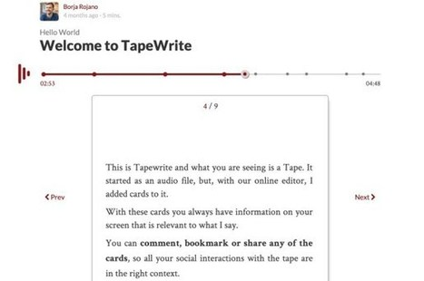TapeWrite. Créer un blog audio | Tice | Scoop.it