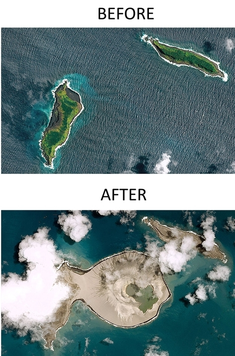 First photographs emerge of new Pacific island off Tonga | Conformable Contacts | Scoop.it