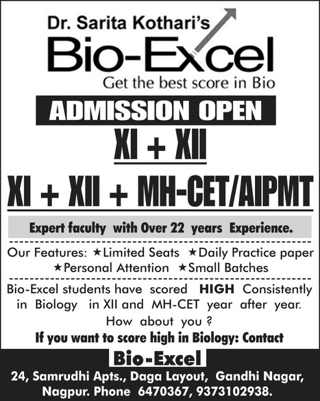 2014 Admissions Open at  Bio Excel | Bio-Excel | Scoop.it