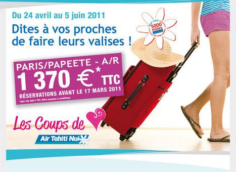 Les Coups de Coeur Air Tahiti Nui - Mars 2011   Air Tahiti Nui   Scoop.it