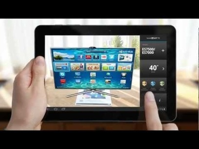 Virtual TV screen to try in your lounge? :) Fun Samsung Smart TV Augmented Reality Simulator App | Pervasive Entertainment Times | augmented reality II | Scoop.it