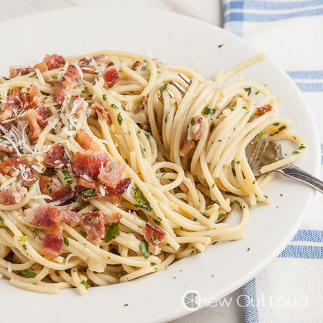 #HealthyRecipe : 30-Minute Spaghetti Carbonara | The Man With The Golden Tongs Goes All Out On Health | Scoop.it